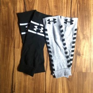 Under Armour leg warmers, two pairs